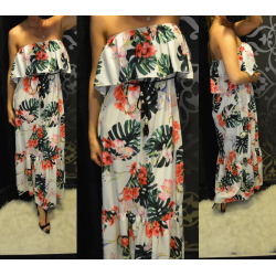Virág mintás maxi ruha