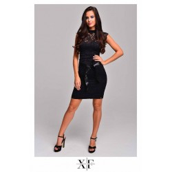 X-Factory fekete csipke ruha