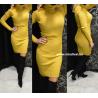 Mustársárga színű kötött ruha