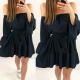 Fekete fodros ruha