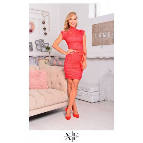 X-Factory piros csipke ruha