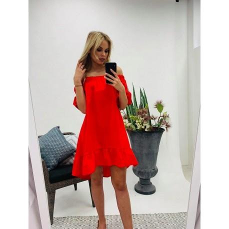 Piros fodros ruha