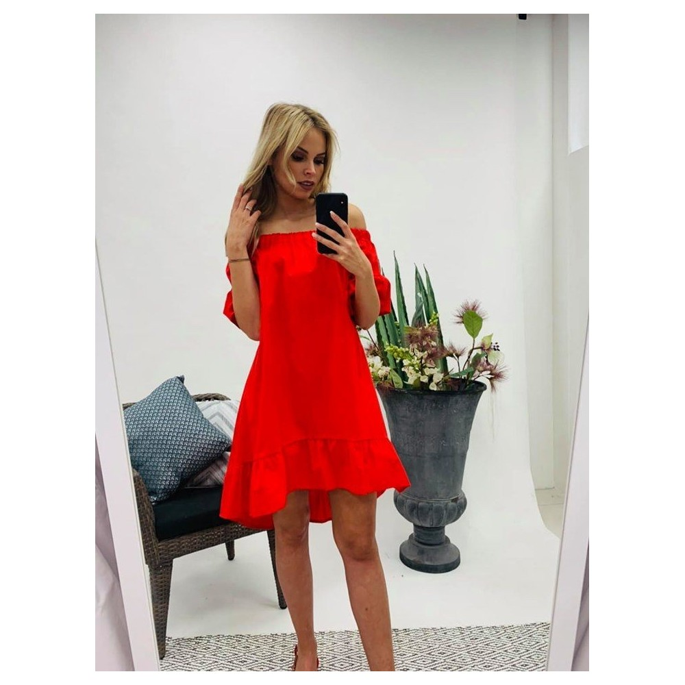 b3351492e6 Piros fodros ruha