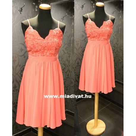 Korall színű ruha