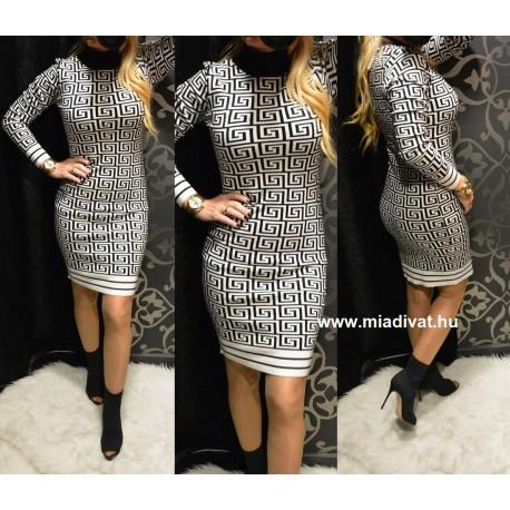 Fekete-fehér mintás ruha