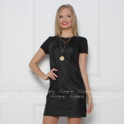 Envy fekete bőrbetétes ruha