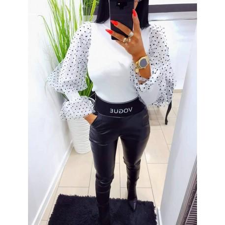 Olasz fekete textilbőr nadrág