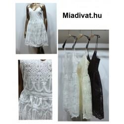 Csipke ruha (vaj színű)