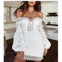 Törtfehér horgolt ruha