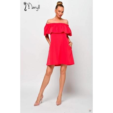 Meryll málna színű ruha