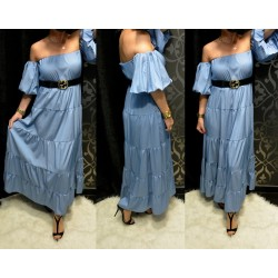 Kék maxi ruha