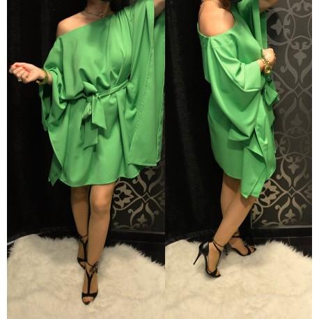 Zöld színű lepel ruha