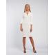 Envy törtfehér bordás ruha