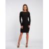 Envy fekete bordás ruha
