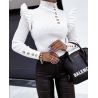 Törtfehér kötött pulóver