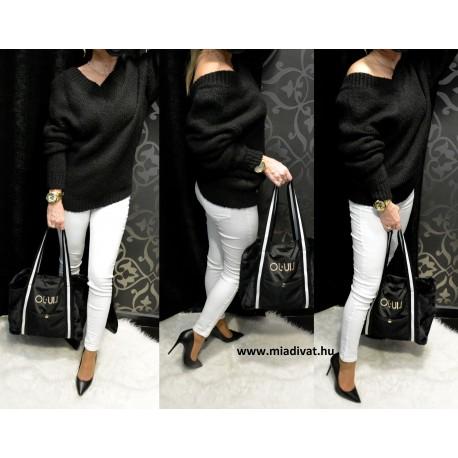Cocomore fekete pulóver PREMIUM
