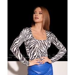 Envy zebra mintás body