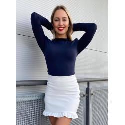 Robrow Fashion fehér bőr alj