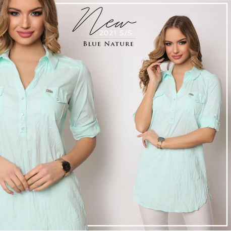Blue Nature menta színű ingtunika