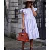 Fehér fodros ruha