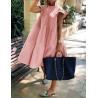 Rózsaszín fodros ruha