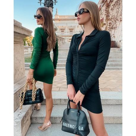 Fekete húzott ruha
